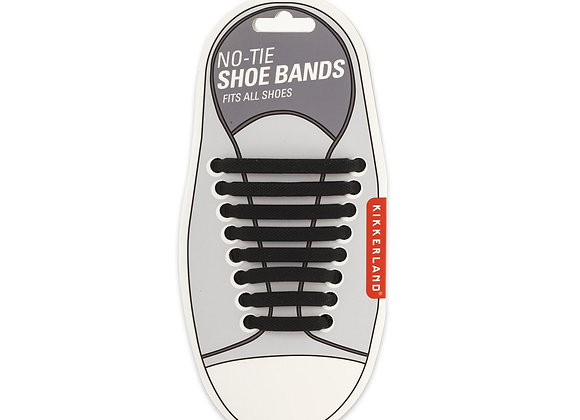Black No Tie Show Shoe Bands