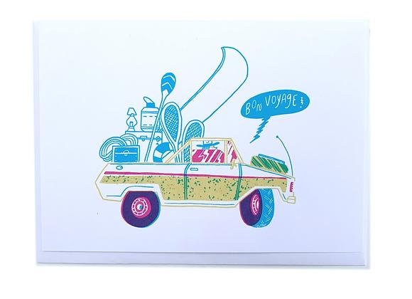 Bon Voyage Car Card