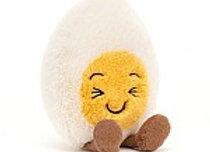 Emotive Boiled Egg Laughing Plush Toy