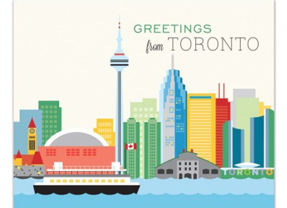 Greetings From Toronto Card