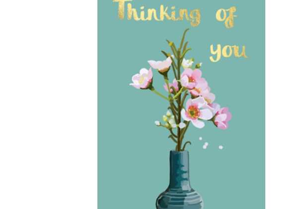 Thinking Of You Flower Vase Card