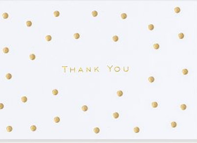 Gold Dots Thank You Notecards
