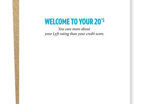Decade 20s Credit Score Birthday Card