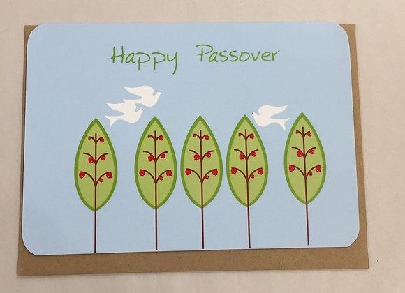 Happy Passover Trees Card