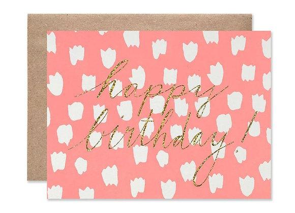 Neon Dots With GlitterHappy Birthday Card by Hartland Brooklyn
