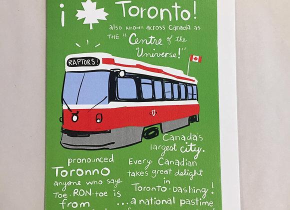 Toronto Streetcar Card