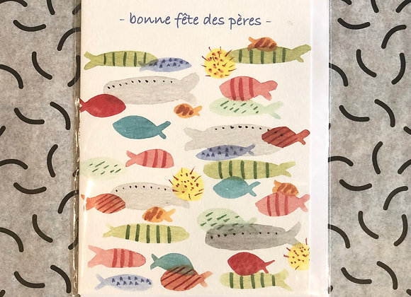 Bonne Fete Des Pere Joly Fish Card