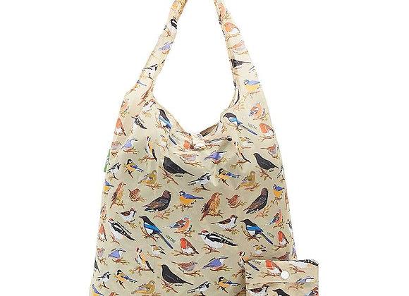 Shopping Tote - Green wild Birds