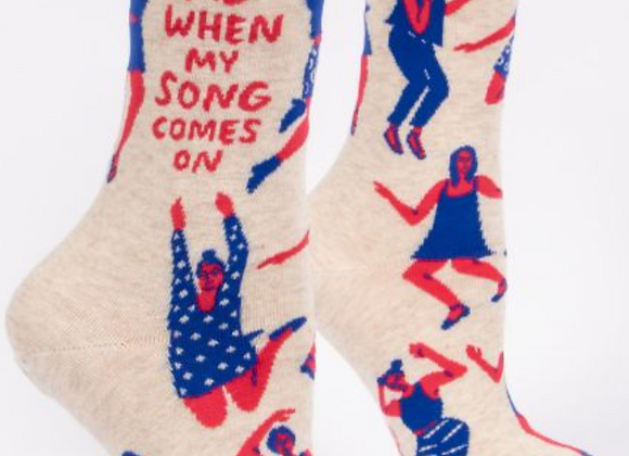 Women's Crew Socks When My Song Comes On