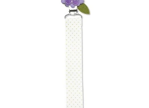 Lilac Flower Pacifier Clip