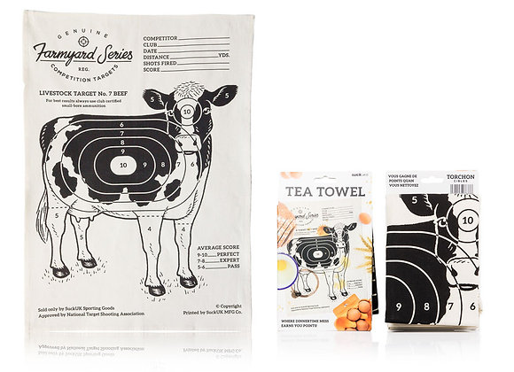 Targets Cow Tea Towel