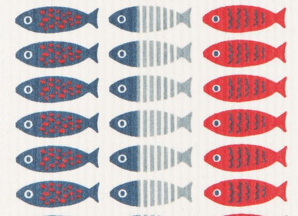 Little Fish Swedish Dishcloth