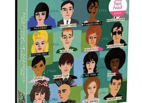History of Hairdos 1000 Piece Puzzle In Square Box