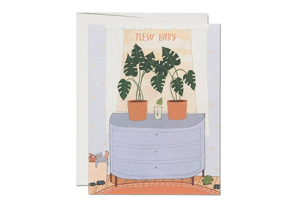 Nursery Plants Baby Card