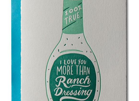 Ranch Dressing Card