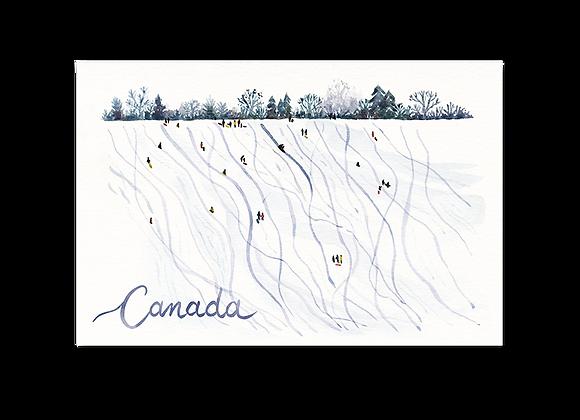 Canada Toboggan Postcard