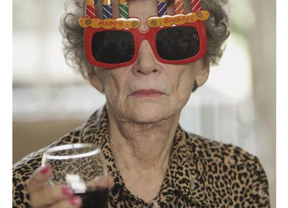 Lady Birthday Glasses Birthday Card