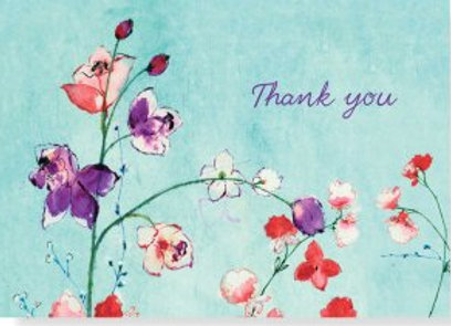 Fuchsia Blooms Thank You Notecards
