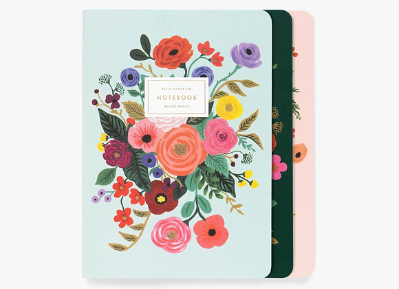Assorted set of 3 Garden Party Ruled Notebook - Rifle and Co.