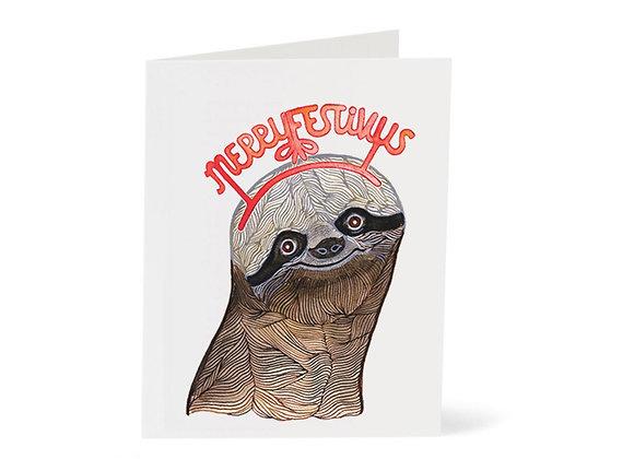La Jolee Sloth Merry Festivus