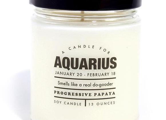 Astrology Candle Aquarius