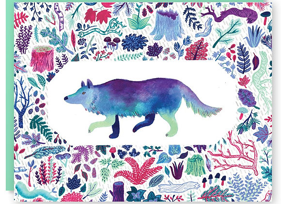 Deep Woods Wolf Card