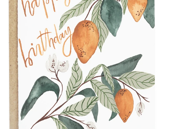 Lemons Happy Birthday Card