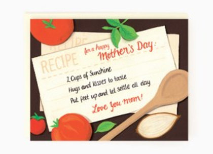 Mom Recipe Mother's Day Card