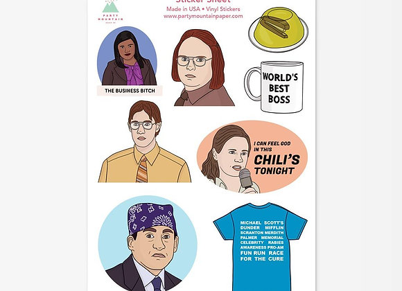 Party Mountain Sticker Sheet