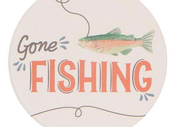 Gone Fishin Soak It Up Coaster Set of 4