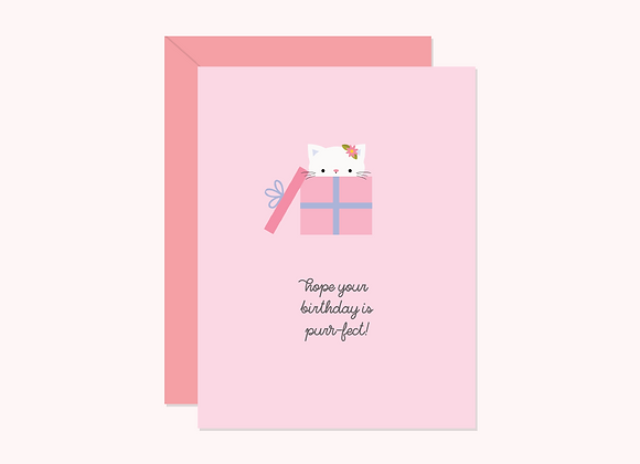Purr-fect Birthday Card by Halifax Paper Hearts