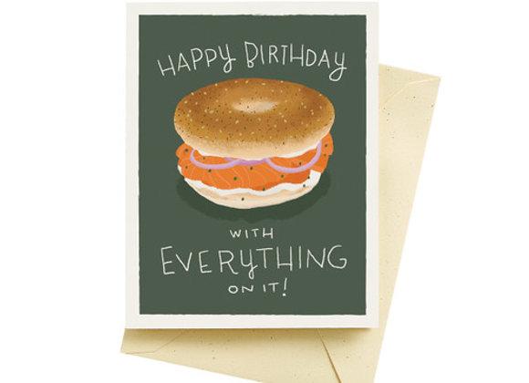 Bagel Birthday Card