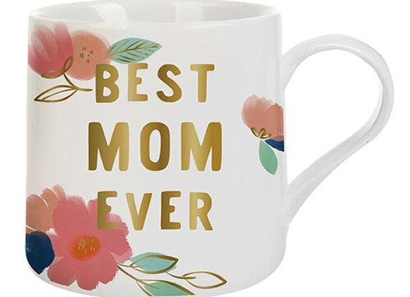 Best Mom Ever Floral 20oz