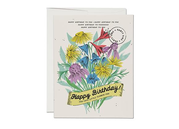 Cute Little Flower Birthday Card