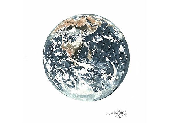 Earth Blank Card by Niki Kingsmill