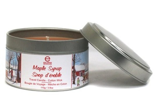 Maple Syrup Travel Candle Cotton Wick