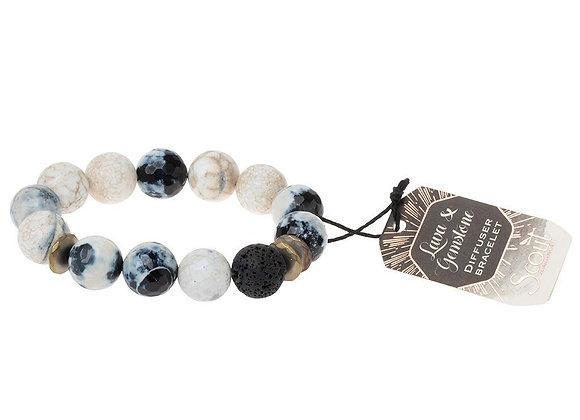 Lava & Gemstone Diffuser Bracelet Marble