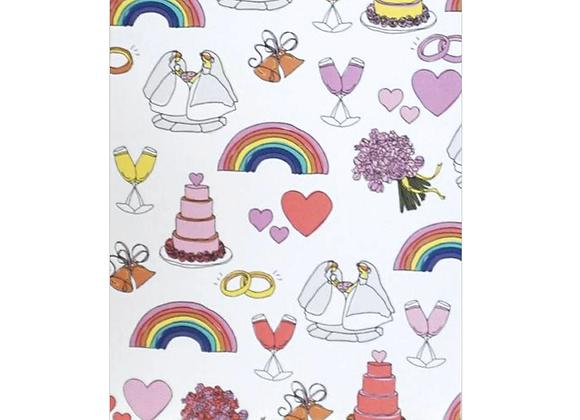 Gay Wedding Charms Card
