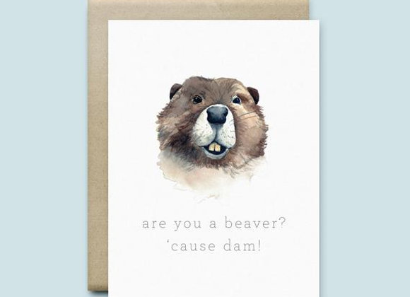 Beaver Friendship Card