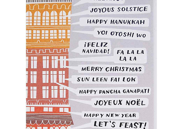 Assembly of Text All the Holiday Greetings