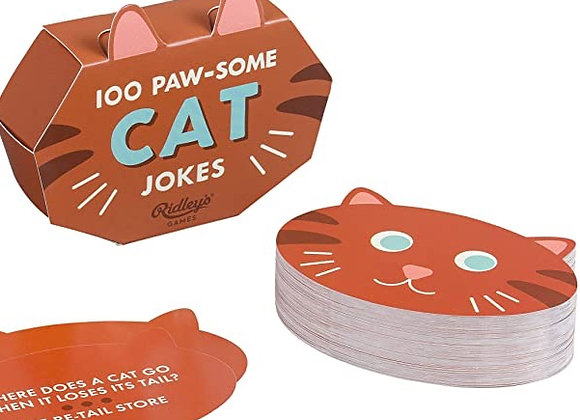 100 Paw-some Cat Jokes - Card Deck