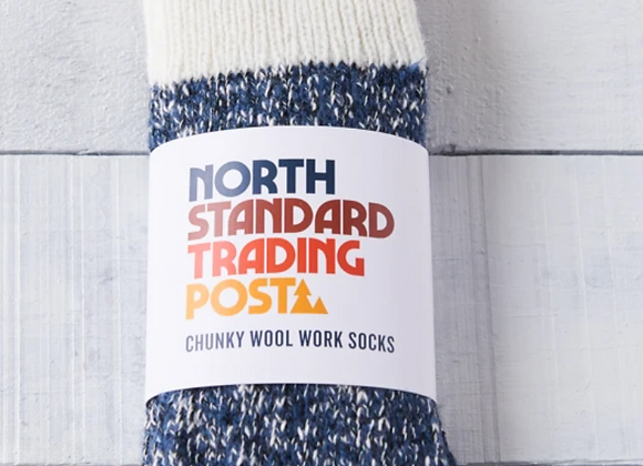 Chuncky Wool Work Socks Navy