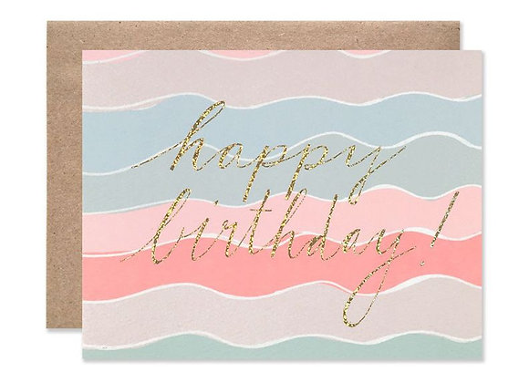 Squiggles With Glitter Happy Birthday Card by Hartland Brooklyn