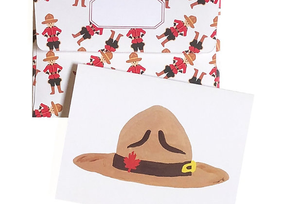 Mountie Hat Card