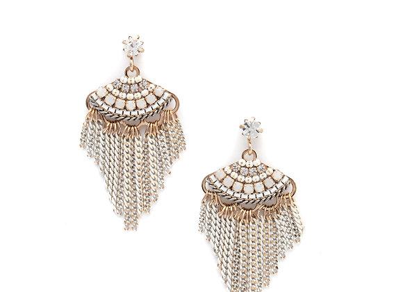 Juliette Fan Fringe Earrings