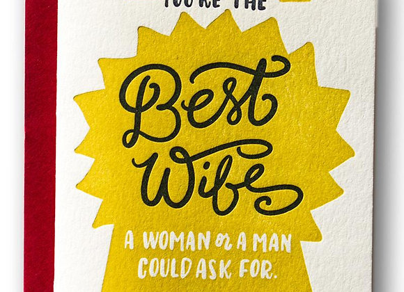 Best Wife Card