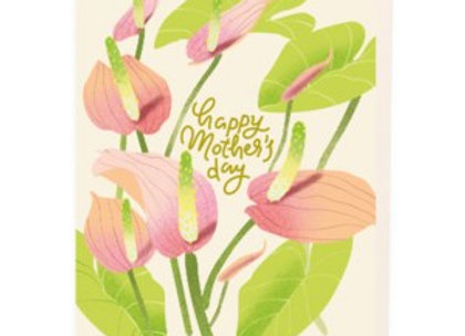 Lily Floral Mother's Day Card