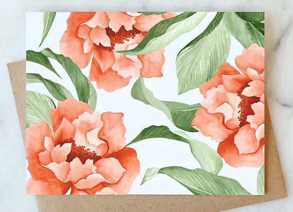 Blooms Blank Card