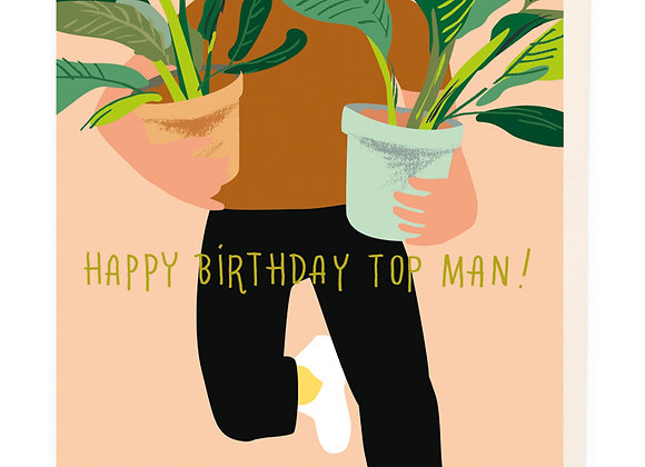 Top Man Birthday Card by Noi