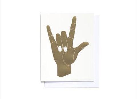 Gold Foil I Love You Card